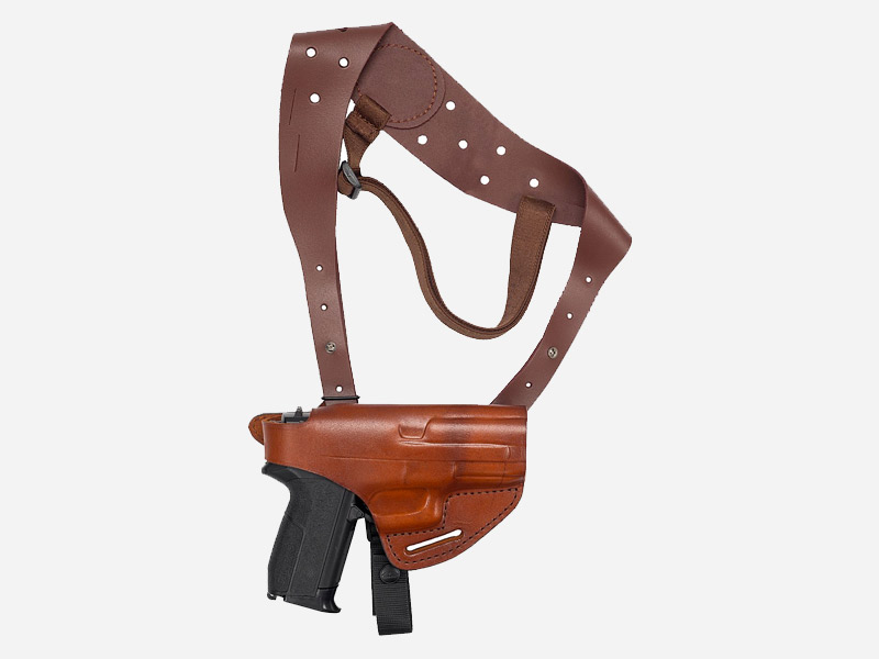 LEATHER HORIZONTAL SHOULDER HOLSTER